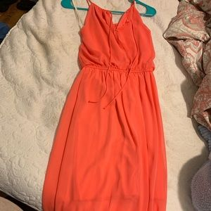 Bright melon dress